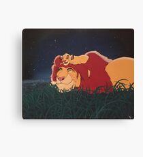 The Lion King: Mufasa and Simba Canvas Print