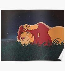 Póster El Rey León: Mufasa y Simba