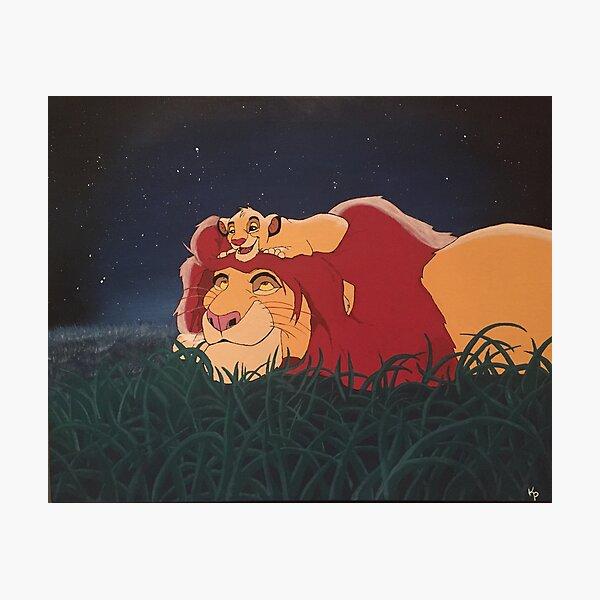 El Rey León: Mufasa y Simba Lámina fotográfica
