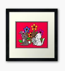 Flower Pets Framed Print
