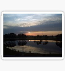 Sunrise over the lake Sticker