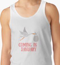 Coming in January Baby - Maternity - Pregnancy Men's Tank Top