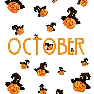 October Pumpkin Funny Design Halloween by zaysa