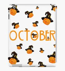 October Pumpkin Funny Design Halloween iPad Case/Skin