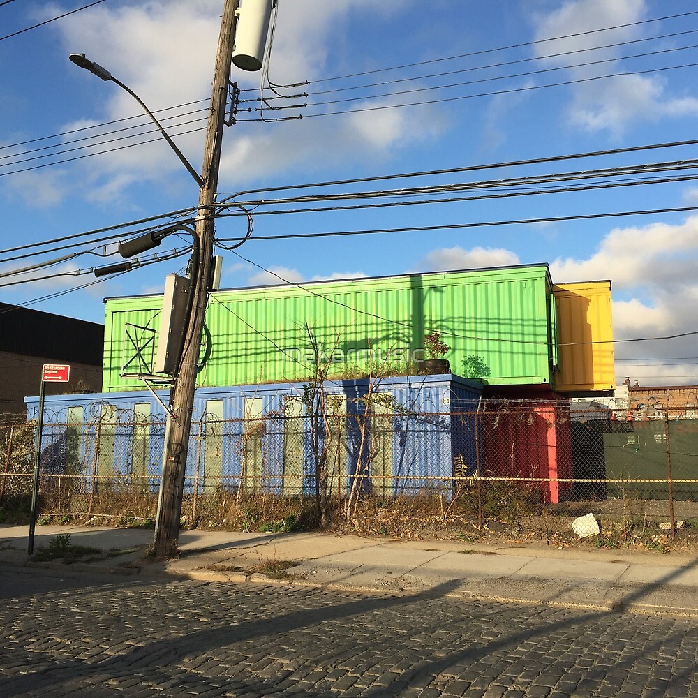 Colorful Abandoned Freights Red Hook Brooklyn by makarmusic