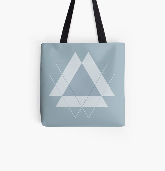 Symmetrical Geometric Design #1 - triangle All Over Print Tote Bag