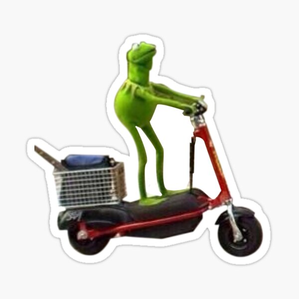 Scooter Kermit Sticker