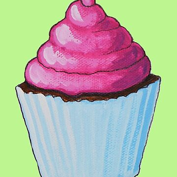 Pink Frosting Cupcake by AmyGiacomelli