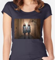 The Shining- Grady Twins Women's Fitted Scoop T-Shirt