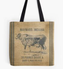 Burlap Vintage Like Dairy Feed Sack Tote Bag