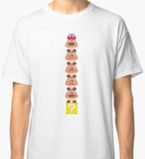 Super Mario Odyssey Stacked Goombas Classic T-Shirt