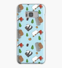 We Bare Bears Cartoon - Tiled Graphics Pattern Samsung Galaxy Case/Skin