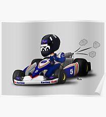 FW-96 Karting Cartoon #5 Poster