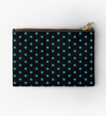 turquoise star Zipper Pouch