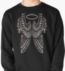 Angel Wings and Halo | Black and White Pullover