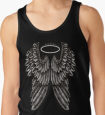 Angel Wings and Halo | Black and White Tank Top