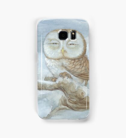 Sleepy Owl Samsung Galaxy Case/Skin