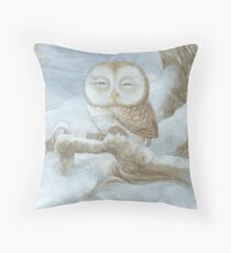 Sleepy Owl Throw Pillow
