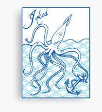 Inked Squid  Canvas Print