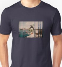 Galactic Mermaid Ashore In A Linear World T-Shirt