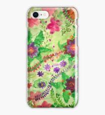 Jungle Wildflower Multicolor Design iPhone Case/Skin