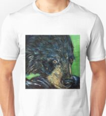 Black Bear Wildlife Art Painting T-Shirt