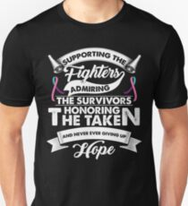 Supporting The Fighters Thyroid Cancer Ribbon T-Shirt