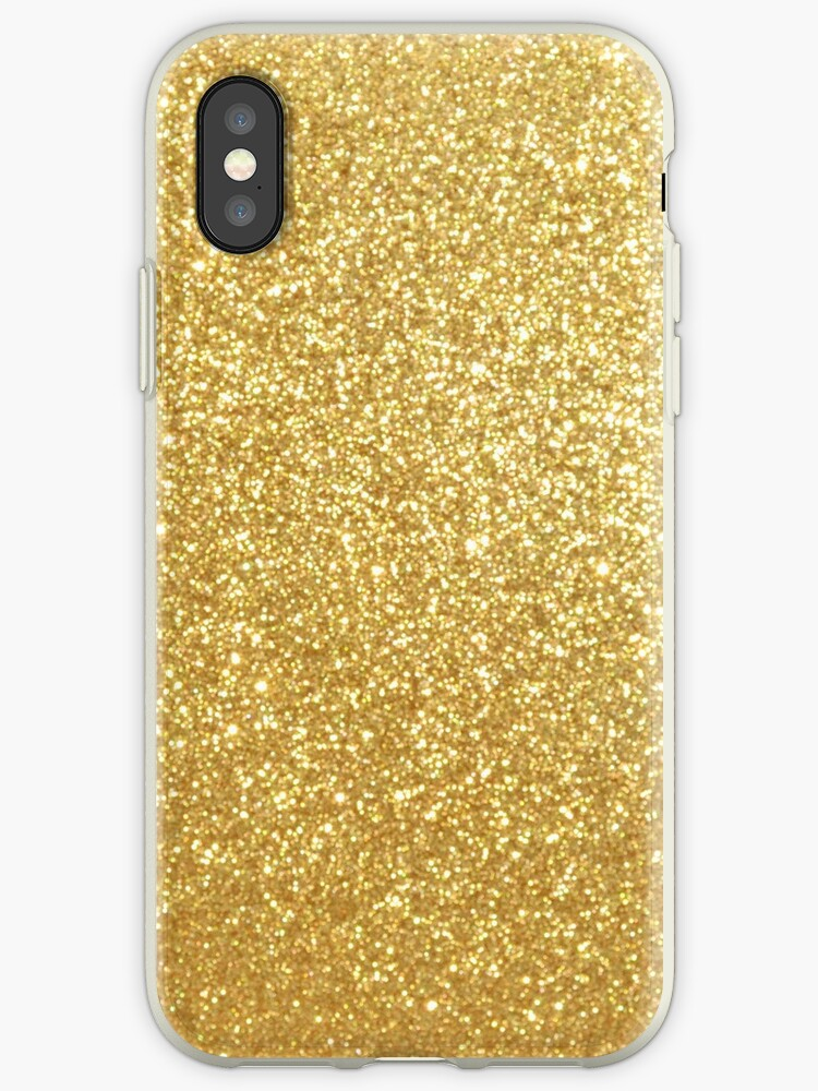 new styles c4d7b bf780 'Gold Glitter Sparkly Shiny Metallic Yellow ' iPhone Case by podartist