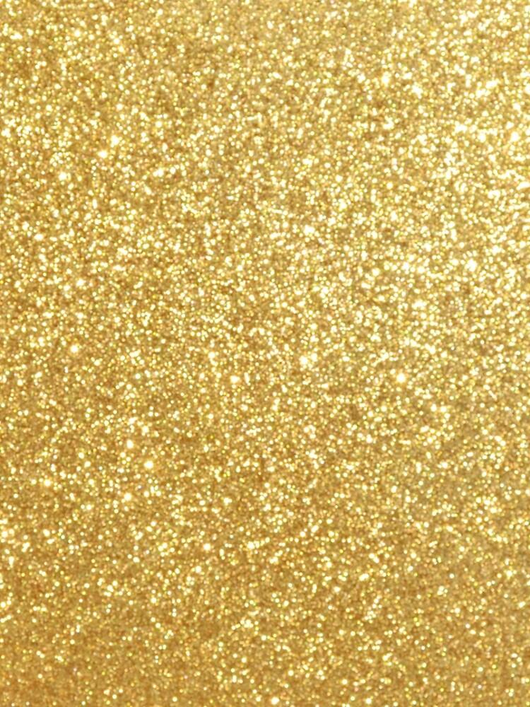 Gold Glitter Sparkly Shiny Metallic Yellow  by podartist