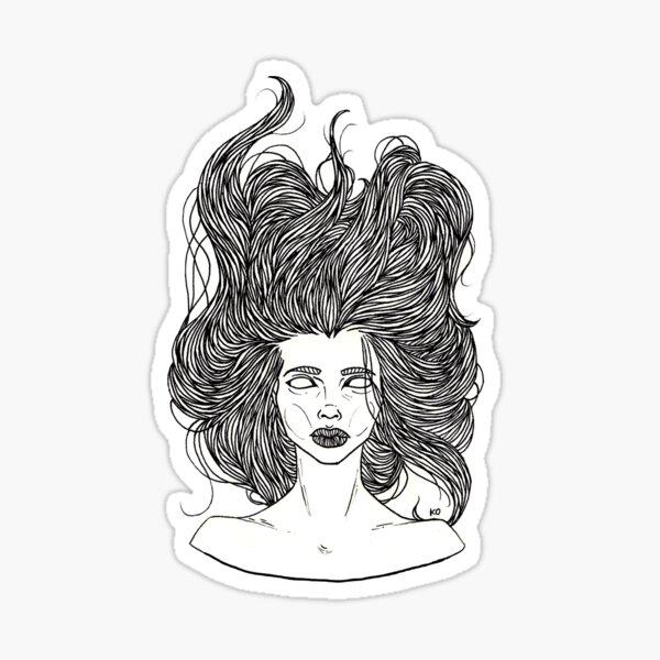 bed head Sticker