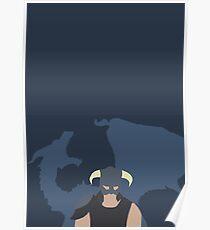 Dovah & Dovahkiin - Skyrim Block Colour Minimalist Poster