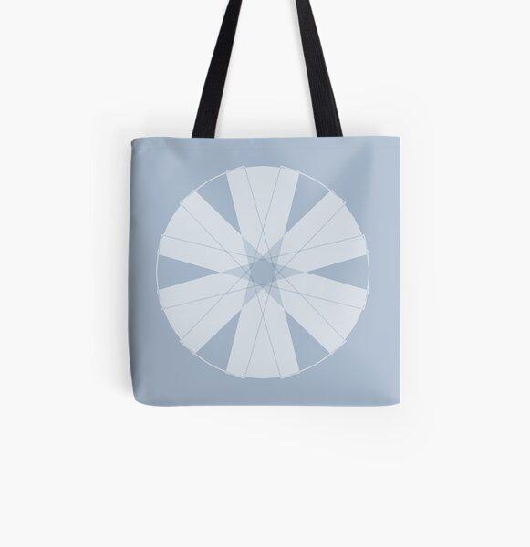 Symmetrical Geometric Design #12 - bow tie All Over Print Tote Bag