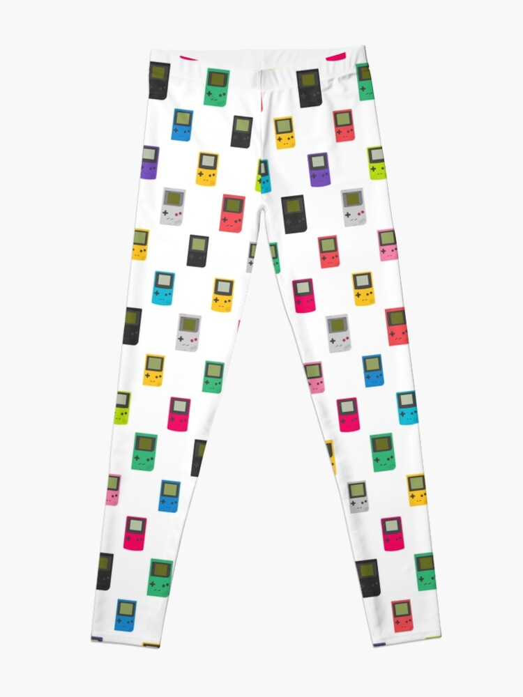 Gameboy, pocket, color pattern (white) | Leggings