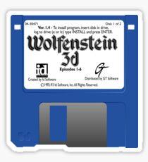 Wolfenstein 3D Floppy Disk Sticker