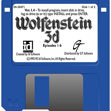 Wolfenstein 3D Floppy Disk by philstrahl