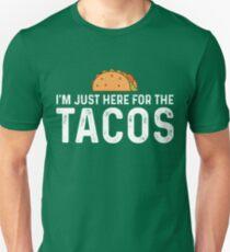 Ich bin nur hier für die Tacos Slim Fit T-Shirt