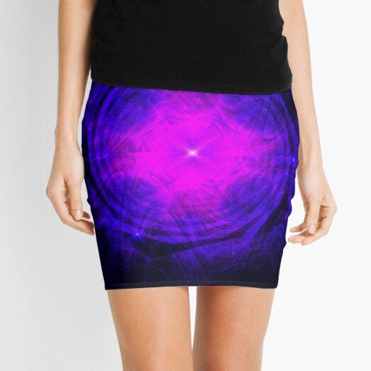 Dripping Into Future Energy ~ Fractal Art Mini Skirt