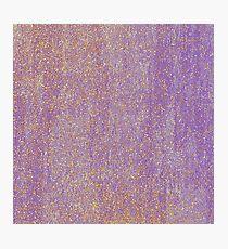 Elegant purple lavender faux gold glitter  Photographic Print