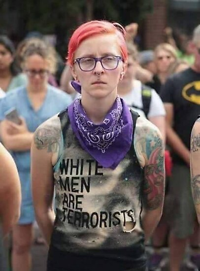 """white men are terrorists"""" Photographic Print by jtarle 