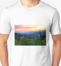 Sunset At Woolyback On The Blue Ridge Parkway T-Shirt