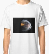 Bald Eagle head with a American flag on his face  Classic T-Shirt