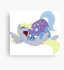 Tickling Trixie Canvas Print