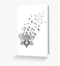 Lotus Bird Greeting Card
