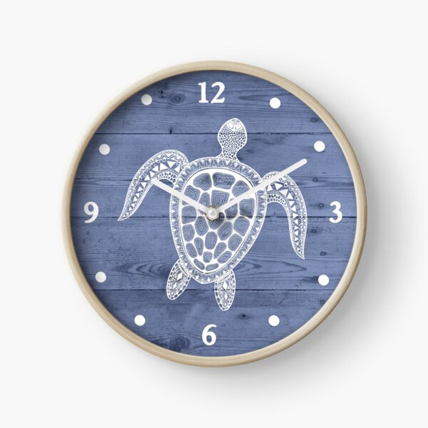 Beach Cottage Turtle Wall Clock Clock