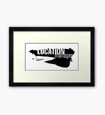Film Crew. Location Manager II. Framed Print