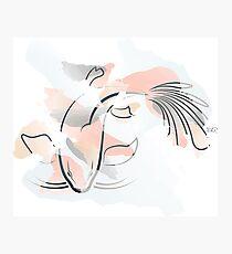 Watercolor Koi Fish Photographic Print