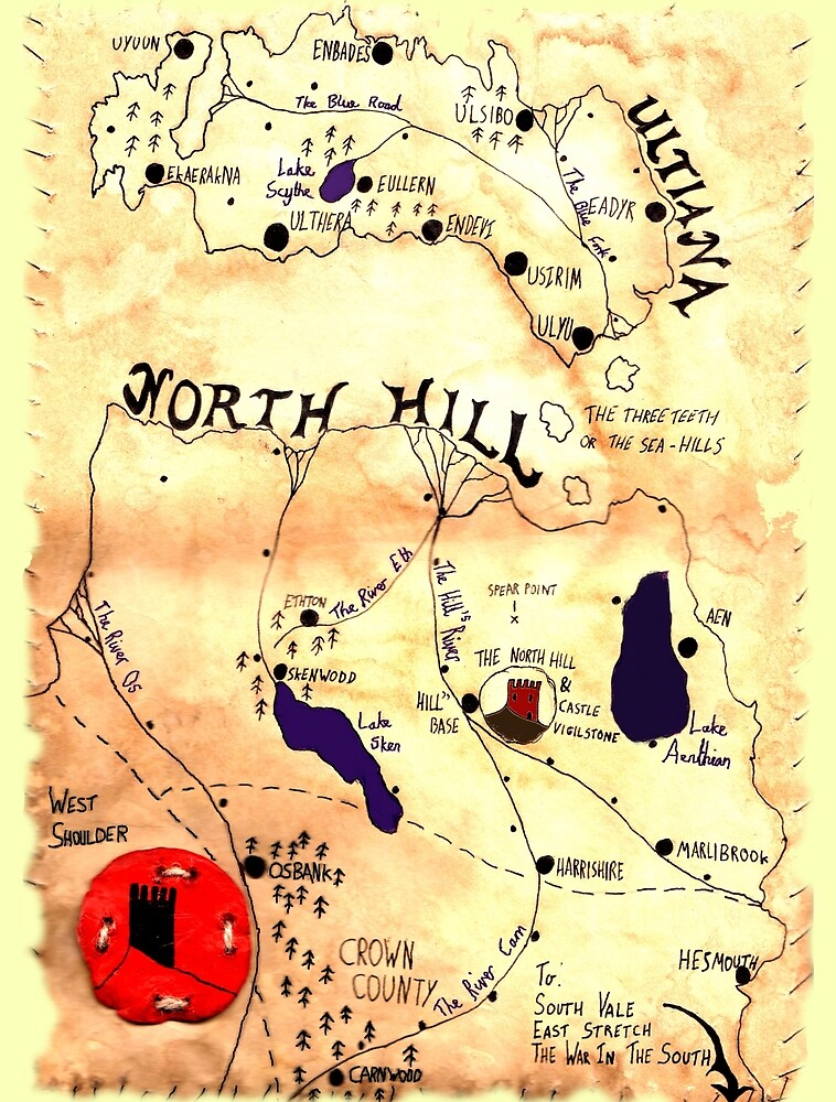 Map of North Hill and Ultiana by Onisimith