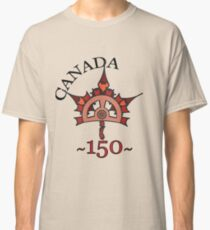 Canada 150 - Steampunk Maple Leaf Classic T-Shirt