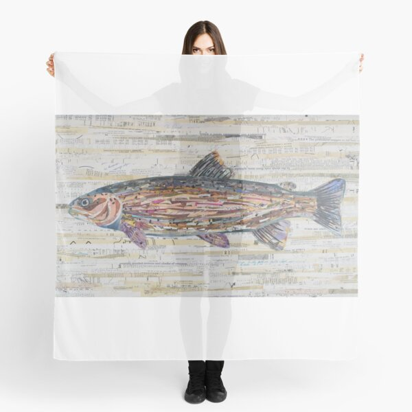Rainbow Trout Collage by C.E. White Scarf