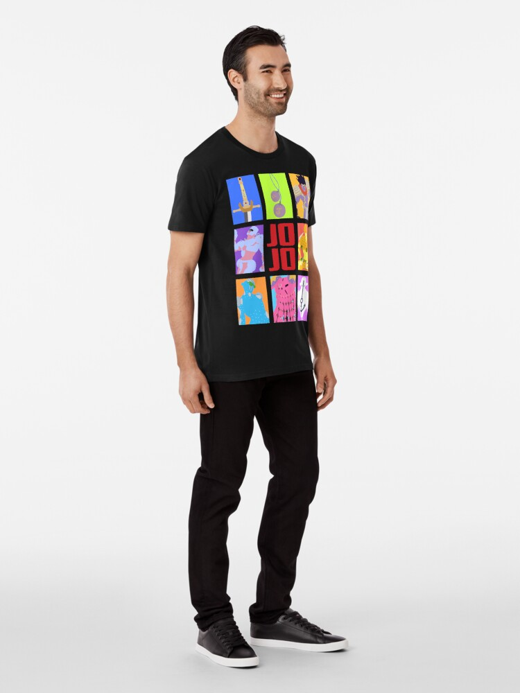 Alternative Ansicht von JoJos bizarres Abenteuer - Stände und Waffen Premium T-Shirt